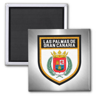 Las Palmas de Gran Canaria Flag Magnet