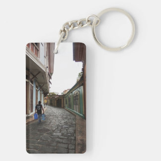 Las Penas-Water Carrier - Cobblestone Road-Ecuador Double-Sided Rectangular Acrylic Keychain