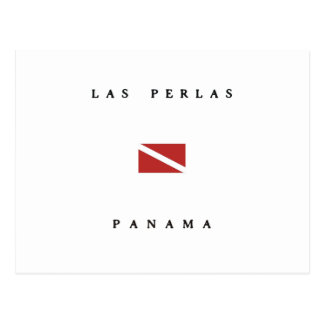 Las Perlas Panama Scuba Dive Flag Postcard