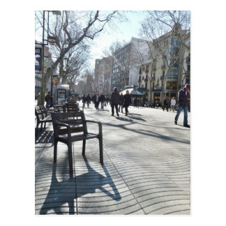 Las Ramblas of Barcelona Postcard