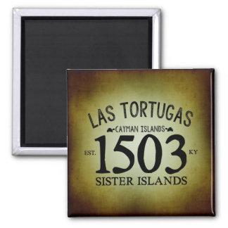 Las Tortugas EST. 1503 Rustic Magnet