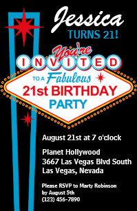 21st birthday invitations zazzle ca las vegas 21st birthday party invitation filmwisefo