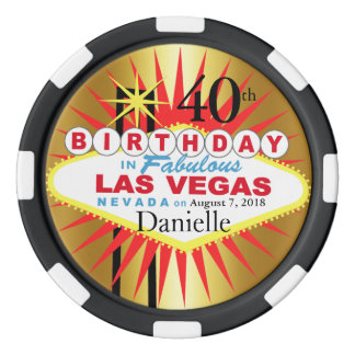 Las Vegas 40th Birthday Casino Chip