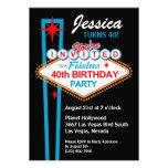 Las Vegas 40th Birthday Party Invitation