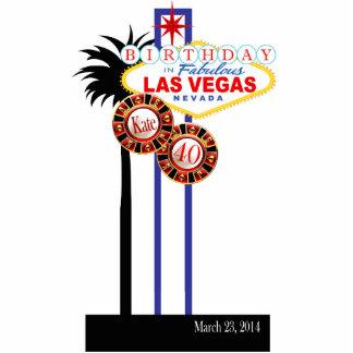 Las Vegas 40th Birthday Party Keepsake Photo Cut Out