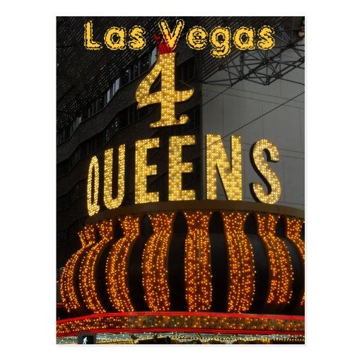 Las Vegas 4 Queens Postcards