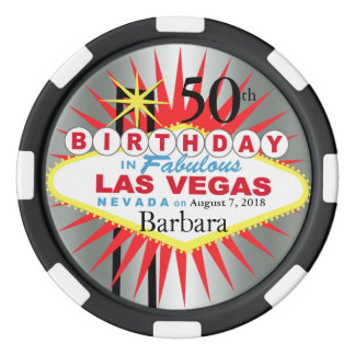 Las Vegas 50th Birthday Casino Chip Poker Chip Set