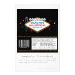 Las Vegas 60th Birthday Candy Wrapper