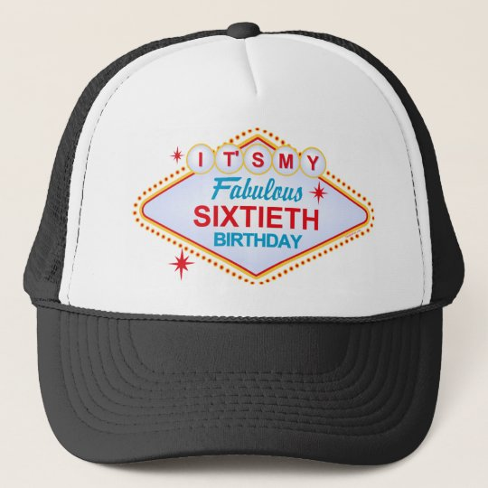 Las Vegas 60th Birthday Trucker Hat