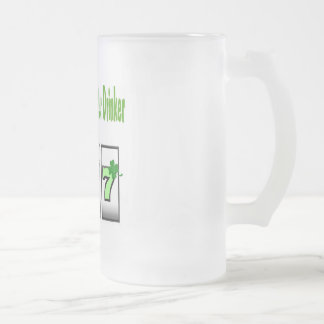 Las Vegas 777 Irish Beer Drinker Frosted Glass Mug