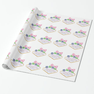 "Las Vegas Baby Shower GIRL Wrapping Paper, 30"" x 6 Wrapping Paper"