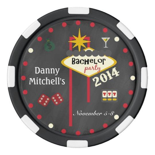 Las Vegas Bachelor Party 2014  Keepsake Poker Chip Set Of Poker Chips