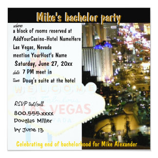 Las Vegas Bachelor Party Cool Card