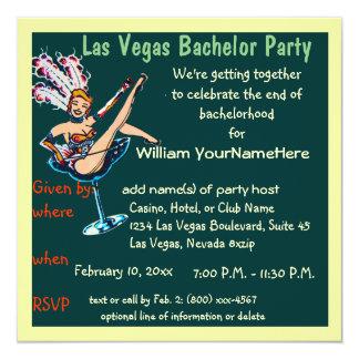 Las Vegas Bachelor Party Showgirl green Card