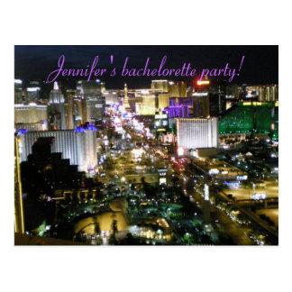 Las Vegas  Bachelorette Invitations Postcard