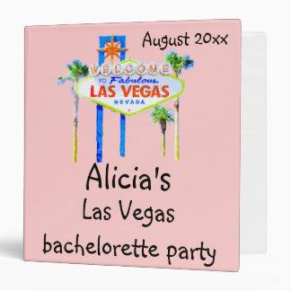Las Vegas Bachelorette Party book pink Binder