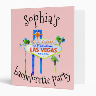 Las Vegas Bachelorette Party Memory Album 3 Ring Binders