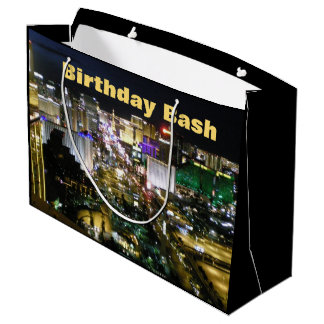 Las Vegas Birthday Bash Strip Large Gift Bag