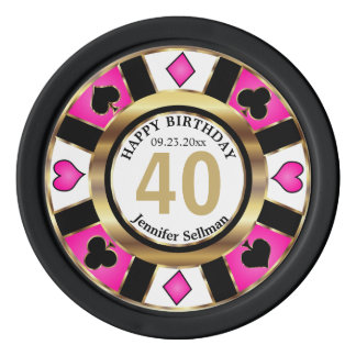 Las Vegas Birthday in Pretty Pink Poker Chips