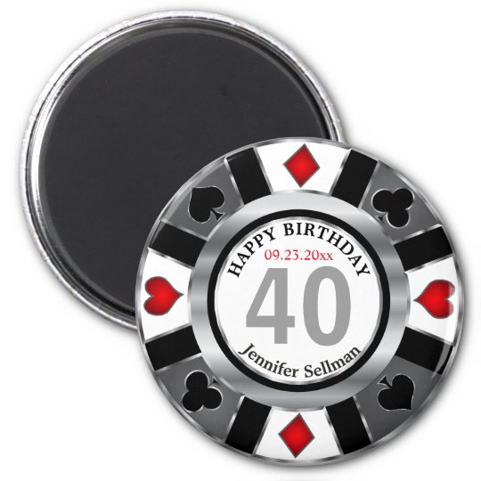 Las Vegas Birthday in Silver Magnet