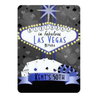 las Vegas Birthday Party- casino night Card
