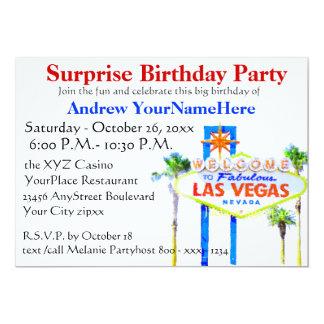 Las Vegas Birthday Party Jackpot Slot Machine Card