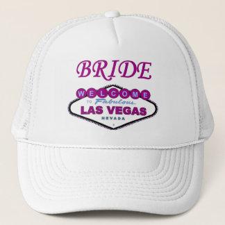 Las Vegas BRIDE Cap! NEW Plum Color Trucker Hat