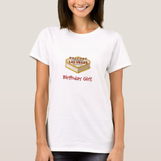 Las Vegas Cake Birthday Girl! Baby Doll Tee