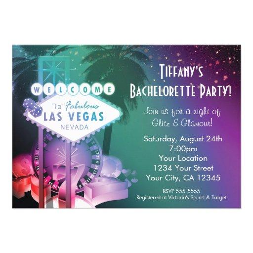 Las Vegas Casino Gambling Night Glam Invitation