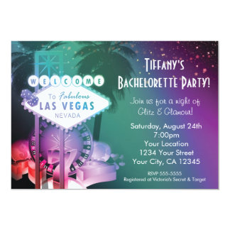Las Vegas Casino Gambling Night Glam Invitation