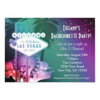 """Las Vegas Casino Gambling Night Glam Invitation 5"""" X 7"""" Invitation Card"""