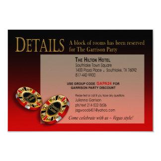 Las Vegas Casino Party Details | red black gold Card