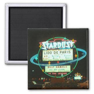 Las Vegas Circa 1959 Stardust Casino at Night Square Magnet