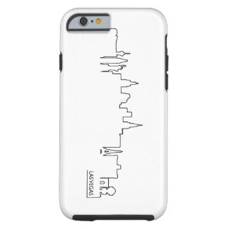 Las Vegas cityscape Tough iPhone 6 Case
