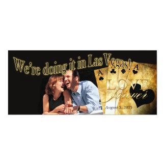 Las Vegas Deluxe Photo Wedding Card