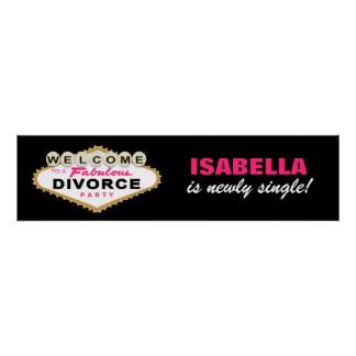 Las Vegas Divorce Party Banner Poster