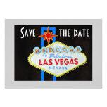 Las Vegas épousant des économies la date Carton D'invitation