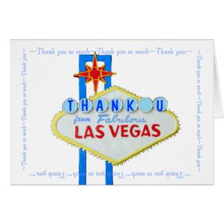 Las Vegas épousant des notes de Merci Carte De Vœux