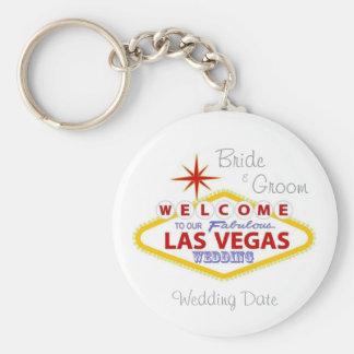 Las Vegas épousant le porte - clé de souvenir Porte-clé Rond