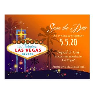 Las Vegas fabuleux épousant des économies la date Cartes Postales