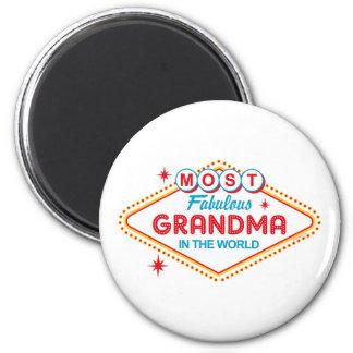 Las Vegas Fabulous Grandma 2 Inch Round Magnet