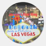 Las Vegas Final Fling Bride to Be Sticker