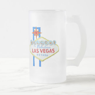 Las Vegas Frosted Glass Beer Mug