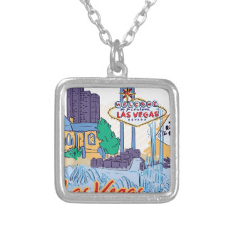 Las Vegas Fun In The Sun Silver Plated Necklace