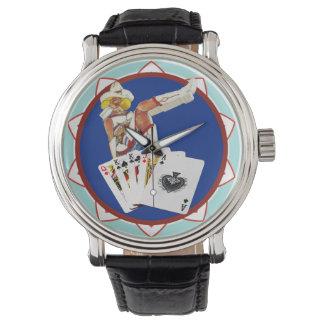 Las Vegas Gal Poker Chip Watches