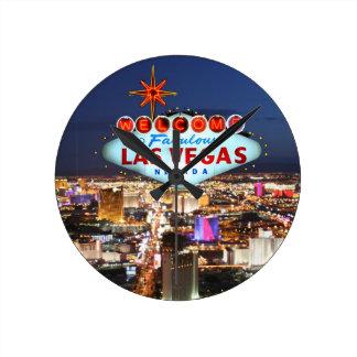 Las Vegas Gifts Round Clock