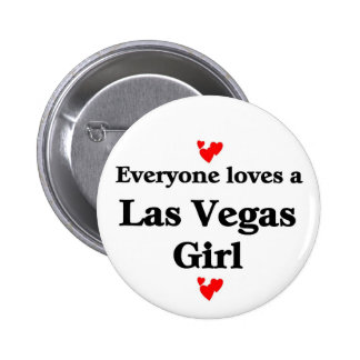 Las vegas Girl 2 Inch Round Button