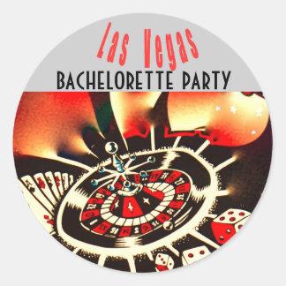 Las Vegas Girls Night Out Dice & Casino Theme Classic Round Sticker
