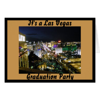Las Vegas Graduation Party Card