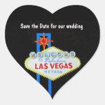 Las Vegas Heart Shaped Wedding Heart Stickers